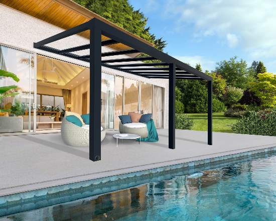 Palram 11x19 Stockholm Patio Cover Kit - Gray/Clear (HG9459) This patio cover will provide protection to you and your family as you enjoy your patio.