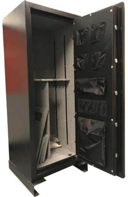 ProMaxx 20 Gun Gunsafe w/ Securam Electronic Lock - Grey Carpet (GS592422) - Safest place to put your guns.