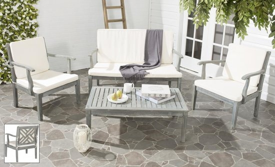safavieh bradbury 4 pc outdoor living set pat6710b