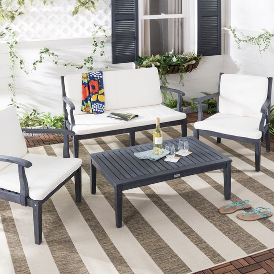 safavieh bradbury 4 pc outdoor living set pat6710k