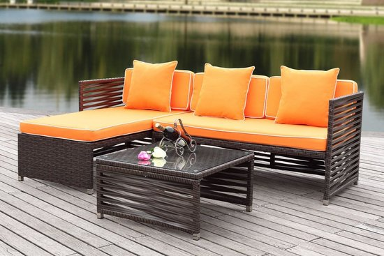 safavieh likoma wicker 3 pc outdoor sectional sofa set pat2007b