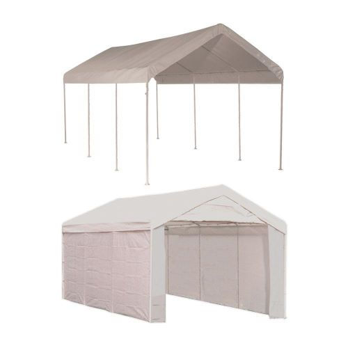 ShelterLogic Max AP Canopy Kit w/ Side Panels White 23529 - Perfect for Indoor or Outdoor use.