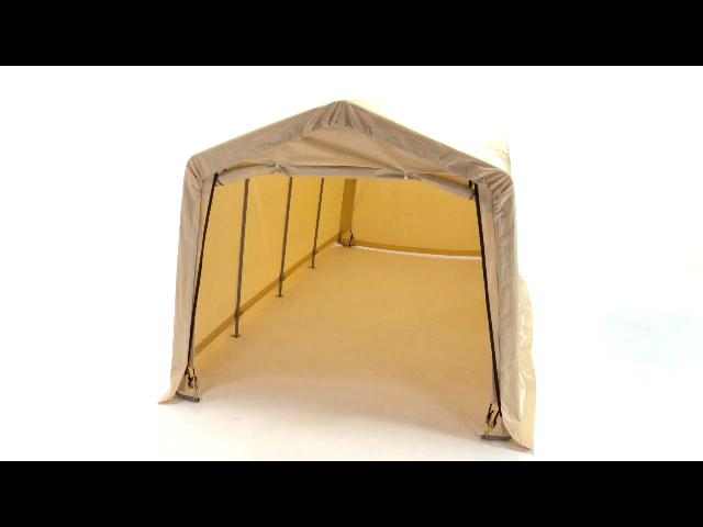 ShelterLogic 10X20 Peak Style Auto Shelter Kit Sandstone 62680 - Perfect for outdoor use.