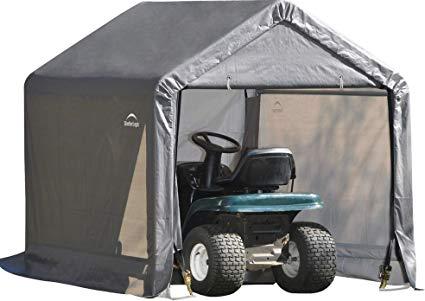 ShelterLogic 10x10x8 Peak Style Storage Shed Kit Grey 70333 - Perfect for outdoor use.