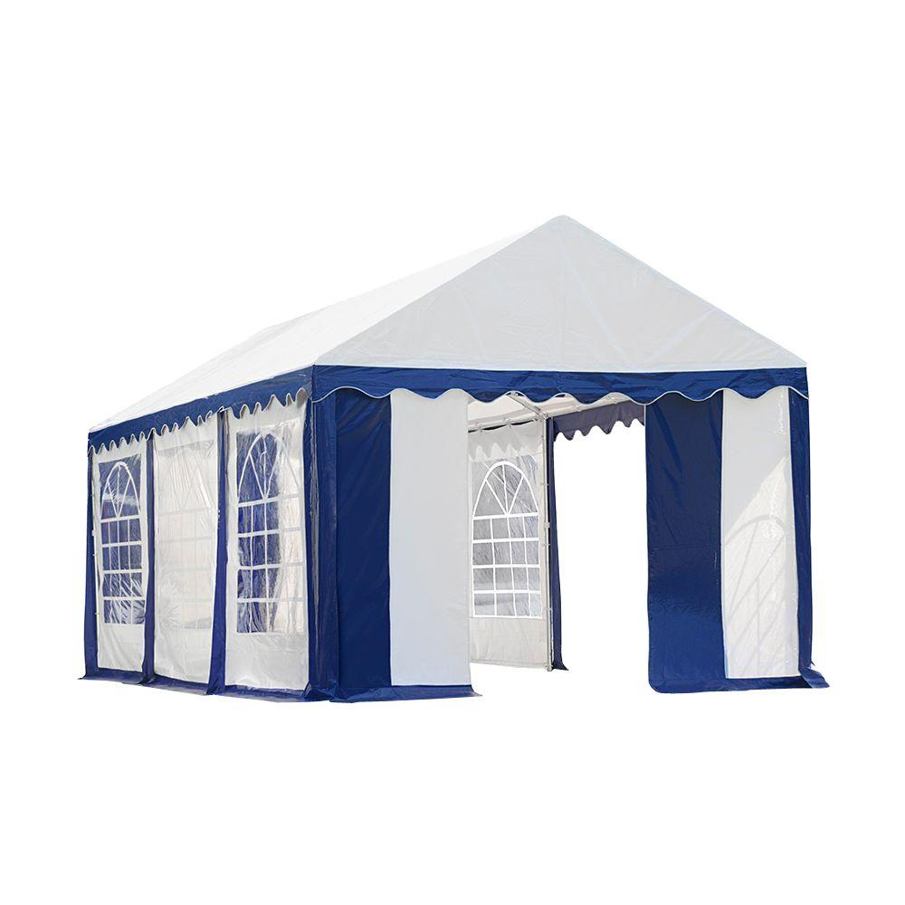 ShelterLogic 10x20 Party Tent Enclosure Kit Blue / White 25891 - Perfect for party use.