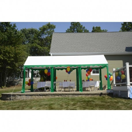 ShelterLogic 10x20 Party Tent  Green / White 25889 - Perfect for party use.