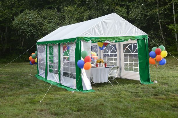 ShelterLogic 10x20 Party Tent Kit Green / White 25892 - Perfect for party use.