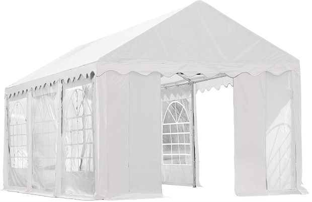 ShelterLogic 10x20 Party Tent Kit w/ Enclosure White 25890 - Perfect for party use.