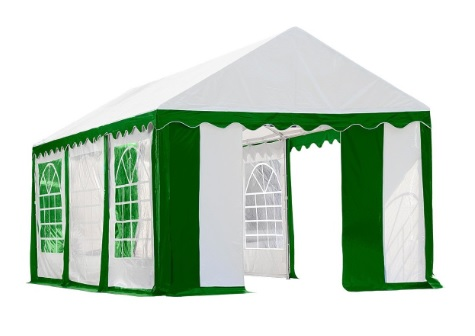 ShelterLogic 10x20 Party Tent Kit w/ Windows Green & white 25899-Perfect for party and events.