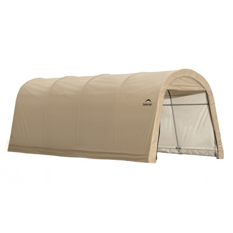 ShelterLogic 10x20x8 ft Round Style Auto Shelter Kit Sandstone 62684 - Perfect for outdoor use.