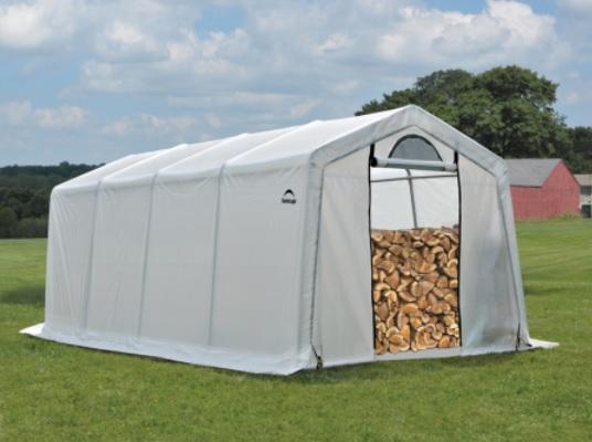 ShelterLogic 10x20x8 Seasoning Shed Translucent 90397-Perfect for storing firewood.