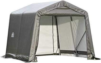 ShelterLogic 10x8x8 Peak Style Shelter Kit Grey 72803 - Perfect for outdoor use.