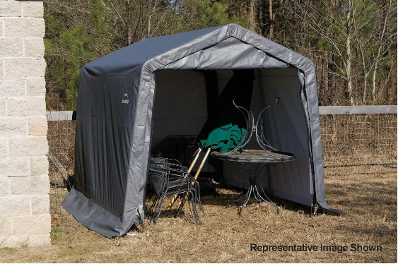 ShelterLogic 11x16x10 Peak Style Shelter Kit -Grey (72873-Perfect for ATV's, lawn and garden equipment, and bulk storage.