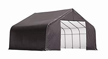 ShelterLogic 11x8x10 Peak Style Shelter Kit Grey 72853 - Perfect for outdoor use.