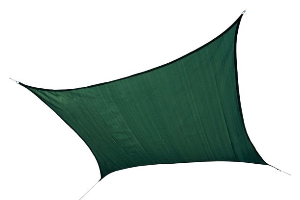 ShelterLogic 12ft Square Shade Sail Evergreen 25726 - Excellent Sun shade solution.