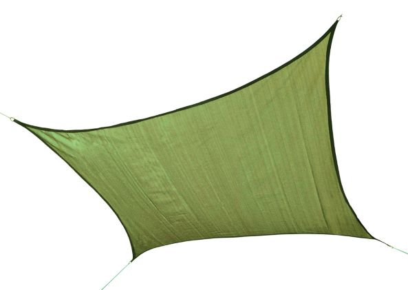 ShelterLogic 12ft Square Shade Sail Lime Green 25676 - Excellent Sun shade solution.