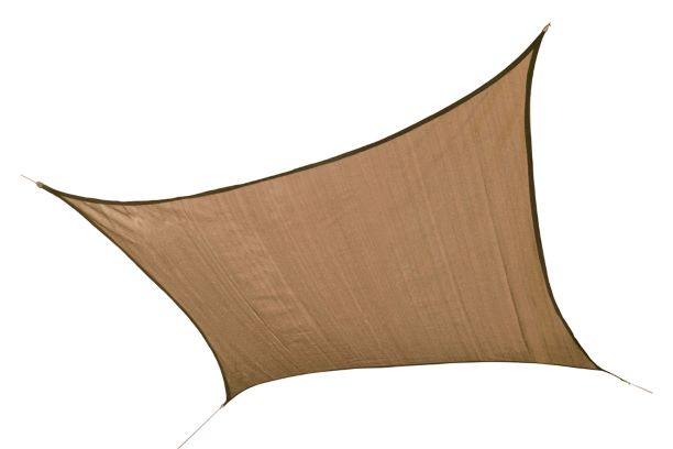 ShelterLogic 12ft Square Shade Sail Sand 25722 - Excellent Sun shade solution.