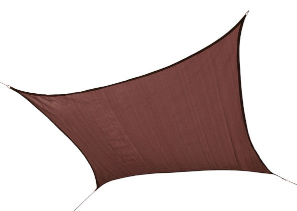 ShelterLogic 12ft Square Shade Sail Terracotta 25672 - Excellent Sun shade solution.