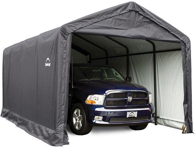 ShelterLogic 12x20x11 ShelterTUBE Storage Shelter Kit Grey 62805 - Perfect for large vehicles.