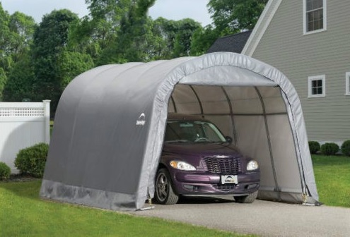 ShelterLogic ShelterLogic 12x20x8 ft Round Style Shelter Kit Gray 62780-Perfect low cost storage solution for automobiles, smaller trucks, lawn and garden equipment