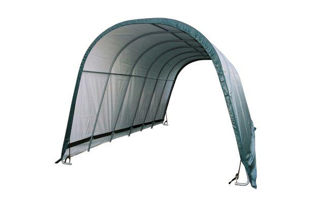 ShelterLogic 12x24x10 Round Style Run-In Livestock Shelter Kit Green 51451 - Perfect for animal shelter.