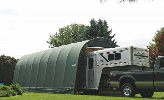 ShelterLogic 15x20x12 Round Style Shelter Kit - Green (95341)