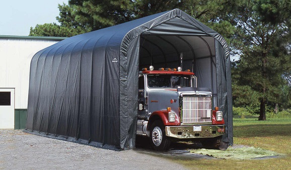 ShelterLogic 15x28x12 Peak Style Shelter Kit - Grey (75232) Perfect protection for your big trucks.