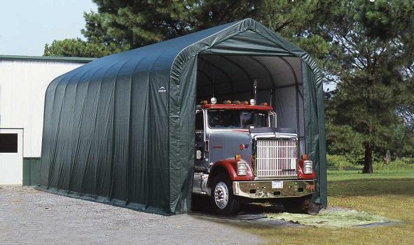 ShelterLogic 15x28x12 Peak Style Shelter Kit - Green (75242) Perfect protection for your big trucks.