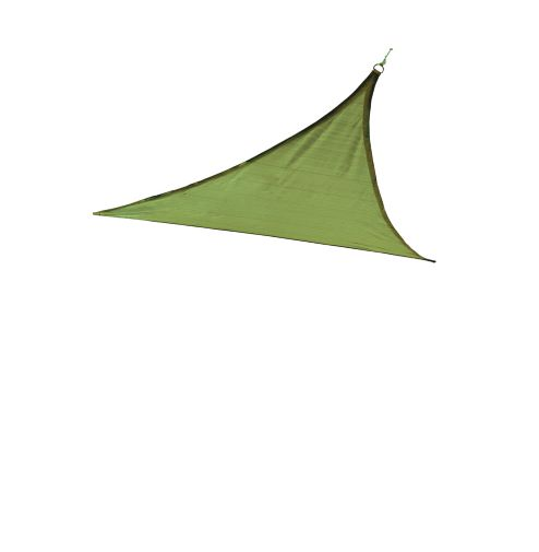 ShelterLogic 16ft Triangle Shade Sail Lime Green 25675 - Excellent Sun shade solution.