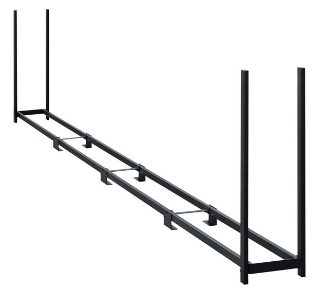 ShelterLogic 16ft Ultra Duty Firewood Rack Black 90469-Perfect for storing firewood.