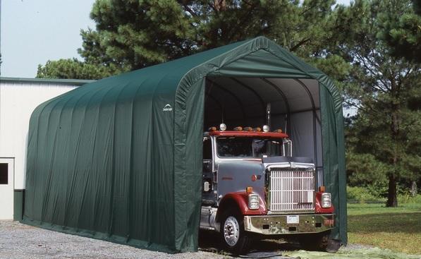 ShelterLogic 16x44x16 Peak Style Green 95944-Perfect storage for your large vehicles.
