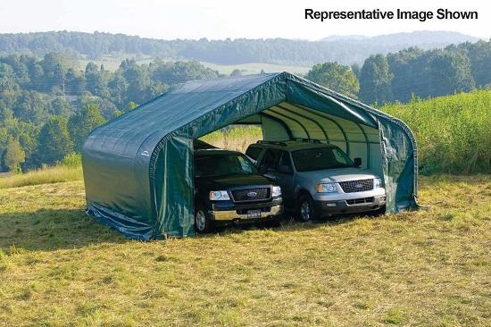 ShelterLogic 22x20x13 Peak Style Shelter Kit Green 82044 - Perfect for your vehicles.