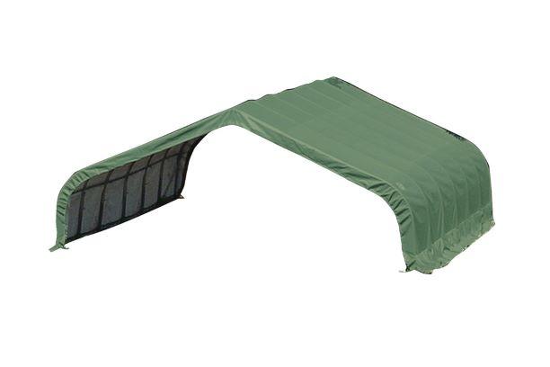 ShelterLogic 22x24x12 Peak Style Shelter Kit Green 58542 - Perfect for animal shelter.