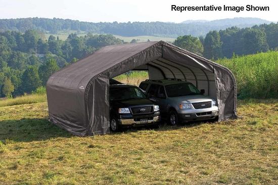 ShelterLogic 22x24x13 Peak Style Shelter Kit Grey 82143 - Perfect for large vehicles.