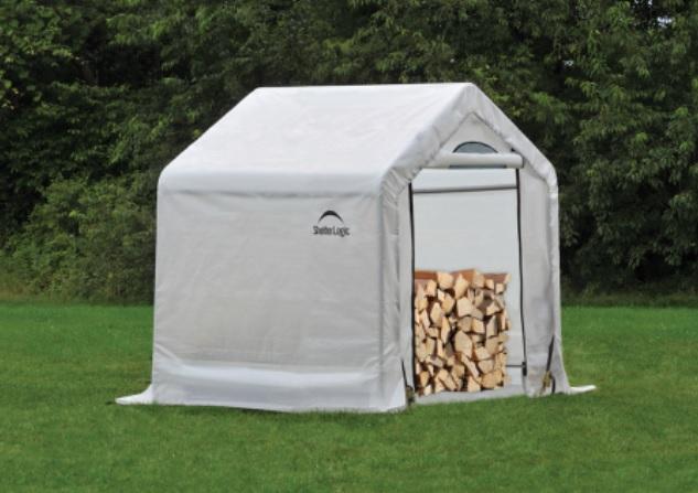 ShelterLogic 5x3.5x5 Seasoning Shed 90395-Perfect for storing firewoods.