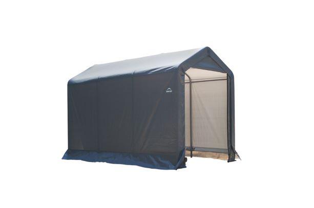 ShelterLogic 6x12x8 Peak Style Storage Shed Grey 70413 - Perfect for outdoor use.