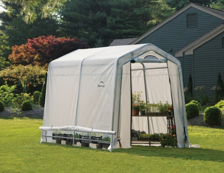ShelterLogic 6x8x6 Rib Peak Style Greenhouse Kit-Translucent-70652-Perfect for starting seeds and extending the growing season.