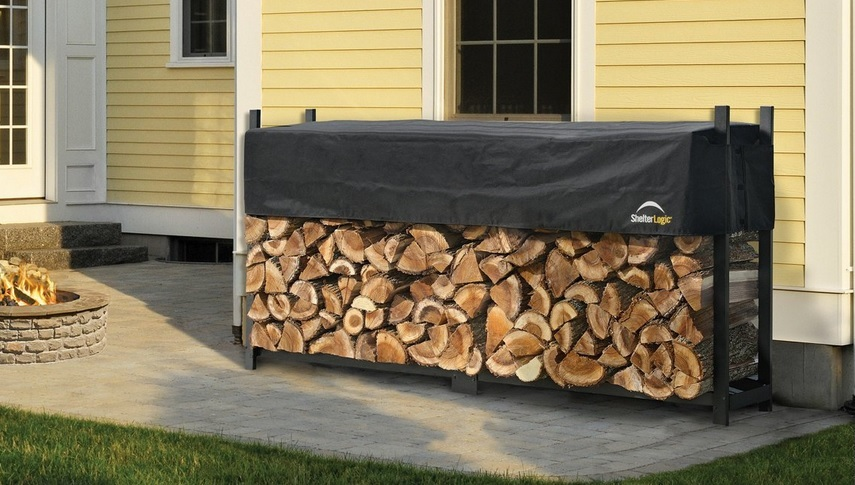 ShelterLogic 8ft Ultra Duty Firewood Rack Cover 90475-Perfect for storing firewood.