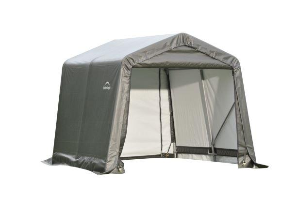 ShelterLogic 8x12x8 Peak Style Shelter Kit Grey 71813 - Perfect for outdoor use.