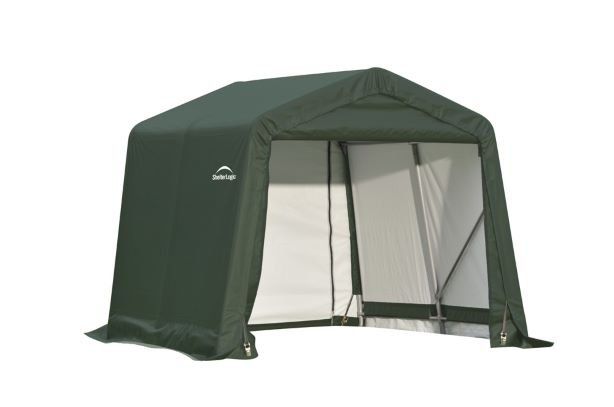 ShelterLogic 8x8x8 Peak Style Shed Shelter Kit Green 71804 - Perfect for outdoor use.