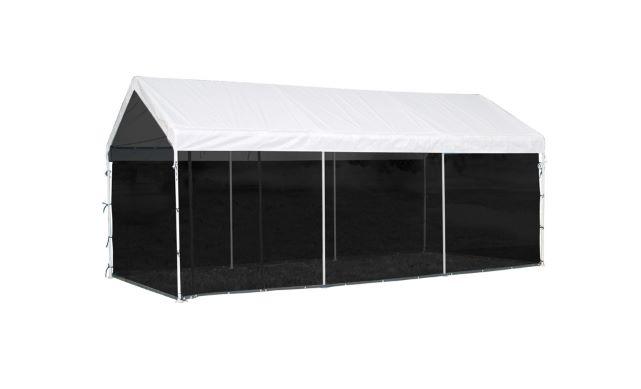 ShelterLogic Max AP 10x20 Screen Kit Canopy Black 25777 - Perfect canopy accessory for picnics.