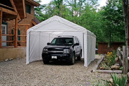 This ShelterLogic 10x20 Canopy Enclosure Kit 25875 is a great protection for your vehicle.
