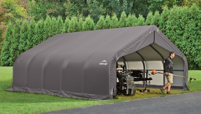 This ShelterLogic 18x24x11 Instant Garage Kit 80020 is perfect for storing tractors, lawn mowers and many more.