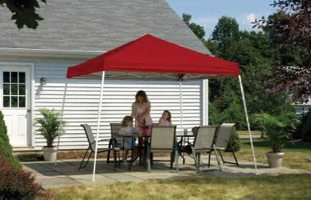 Shelter Logic 12x12 Pop-up Canopy - Red (22545) Protects you and your family from the weather elements.
