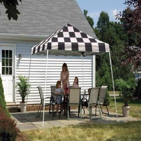 Shelter Logic 12x12 Pop-up Canopy Kit - Checkered (22549) - This canopy kit will make you enjoy your outdoor activities.