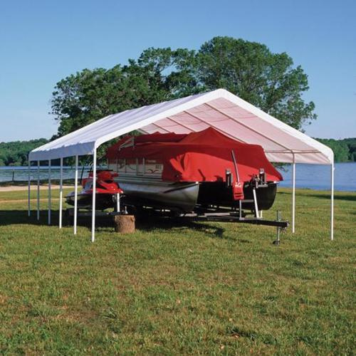 ShelterLogic 12x30 Super Max Canopy Kit - White (25767) Gives protection to your water vehicles.