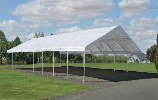 ShelterLogic UltraMax 30x30 Canopy Kit - White (27772) Provides shade protection to your vehicles.