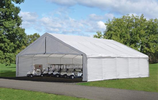 ShelterLogic UltraMax 30x30 Canopy Enclosure Kit - White (27775) Provides a large space for your small vehicles.